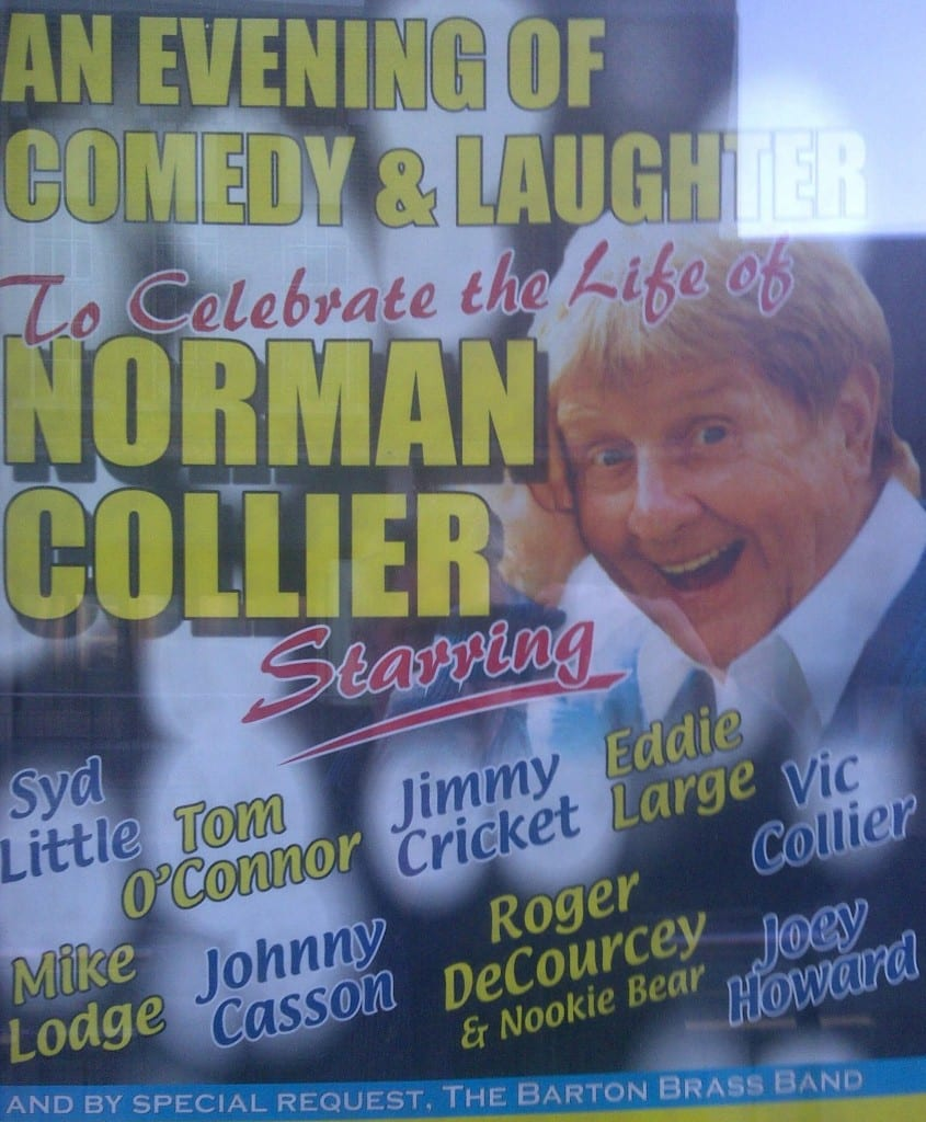 Poster advertising the tribute show to the late comedian Norman Collier