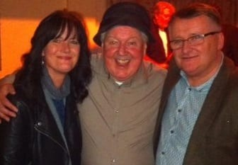 Jimmy Cricket with Paul Crowley and Mary Hussey at the Birmingham Irish Centre