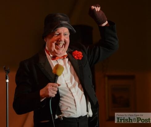 Jimmy Cricket performing at the Birmingham Irish Centre