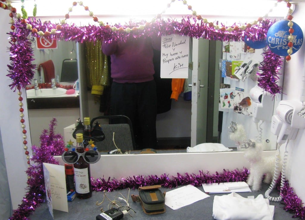Jimmy Cricket's panto dressing room