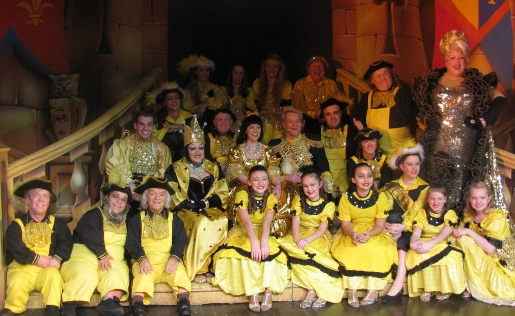 The entire panto cast including Yvonne Patterson who took on the role of Wicked Queen and the dancers from the Stockton Heritage dance studio