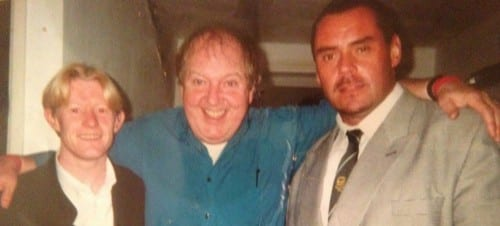 Jimmy Cricket with Darren and Neil from the Morton Arms, Towyn, North Wales