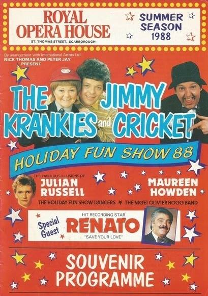 Jimmy Cricket featured with the Krankies and Renato at the Royal Opera House in Scarborough