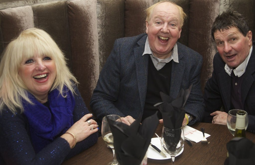 Jimmy Cricket and wife May with Stu Francis