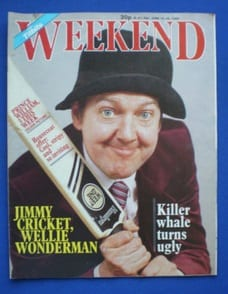 Jimmy Cricket and his family appeared in the Weekend and Titbits magazine in the 1980s
