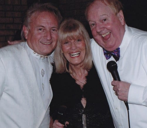 Jimmy Cricket with Brian and Maxine from the renowned band caked Lemon Tree