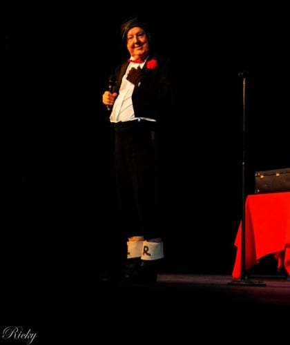 Jimmy Cricket performing at the Oldham Coliseum Theatre in aid of Francis House Children's Hospice