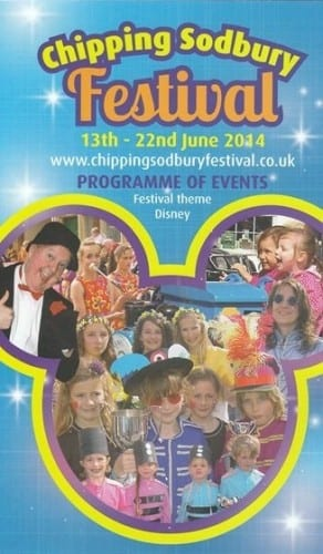 Promotional flyer for the 2014 Chipping Sodbury Festival