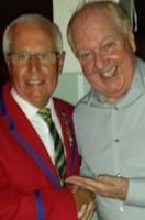 Jimmy Cricket with Paul Ogden, another former Butlins Redcoat