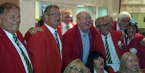 Jimmy with some other former Butlins Redcoats