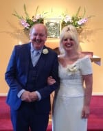 Jimmy and May Cricket renewed their vows on Saturday 27 September at St Mary's, Sabden in East Lancashire