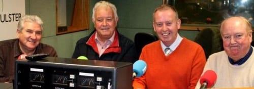 Jimmy Cricket, John Linehan (aka May McFettridge), William Caulfield and Gene Fitzpatrick