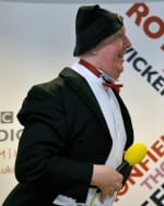 Jimmy Cricket performs on Bernie Clifton's BBC Radio Sheffield Live-ish show