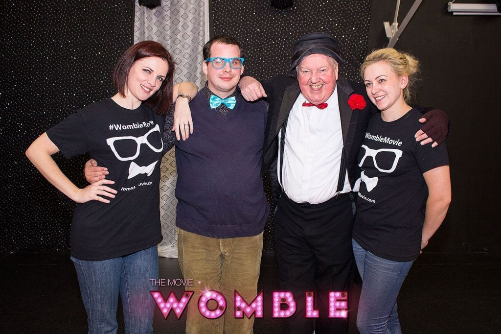 Jimmy Cricket with Tom Spencer and actresses Gemma Jones and Georgina Ford