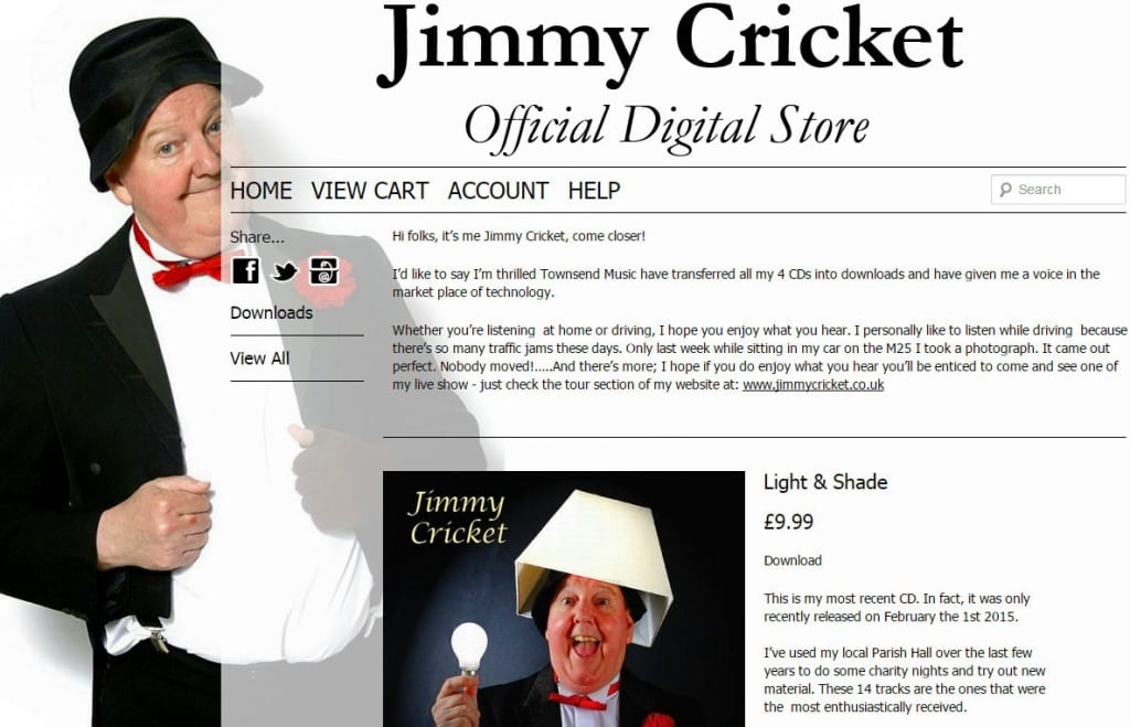 Jimmy Cricket has agreed a deal with Townsend Records