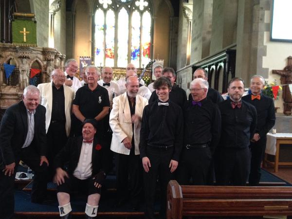 Jimmy Cricket with others at the birthday celebration for All Saints Church