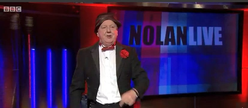 Jimmy Cricket on Stephen Nolan's Nolan Live show