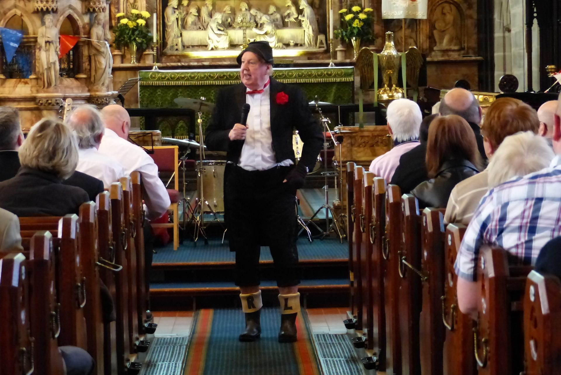 Jimmy Cricket performs at the birthday celebration for All Saints Church