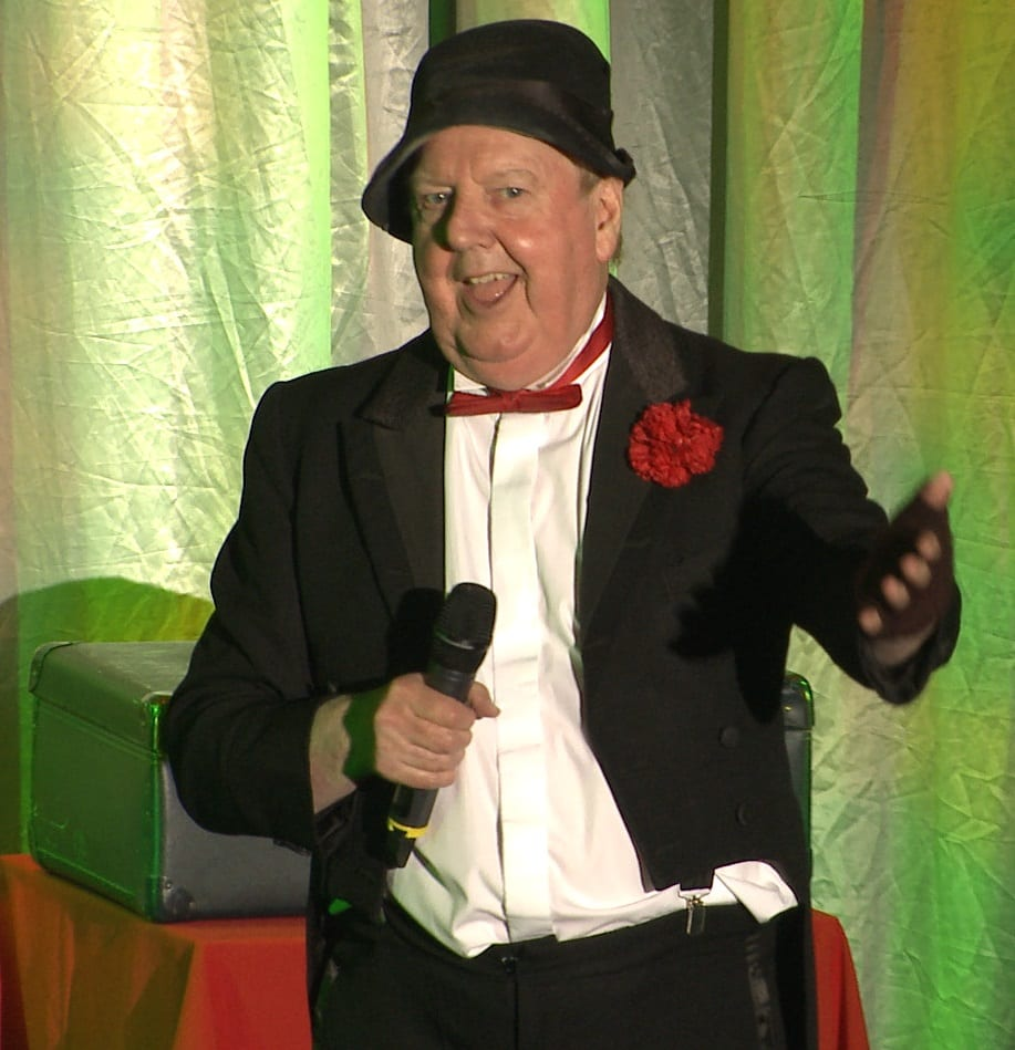 Jimmy Cricket performing at the Concordia Theatre in Hinckley, Leicestershire