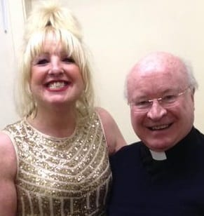 Jimmy Cricket's wife May Marion with Canon Tony McBride