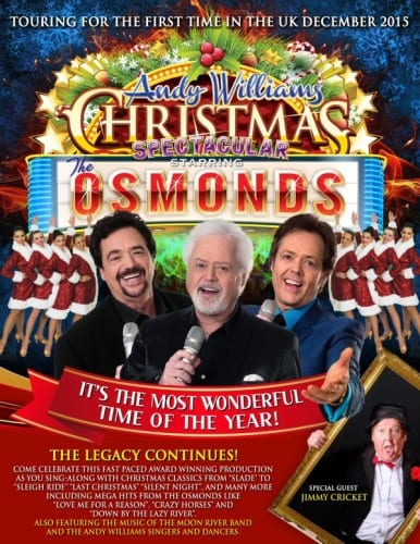 Jimmy Cricket is appearing on the Osmonds' Christmas tour