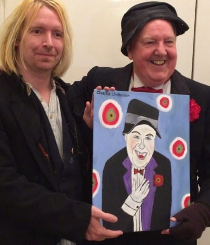 Jimmy Cricket with Charlie Chittenden and the painting