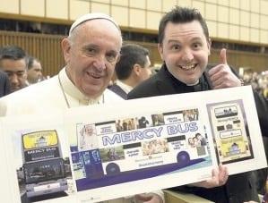 Fr Frankie Mulgrew meets Pope Francis