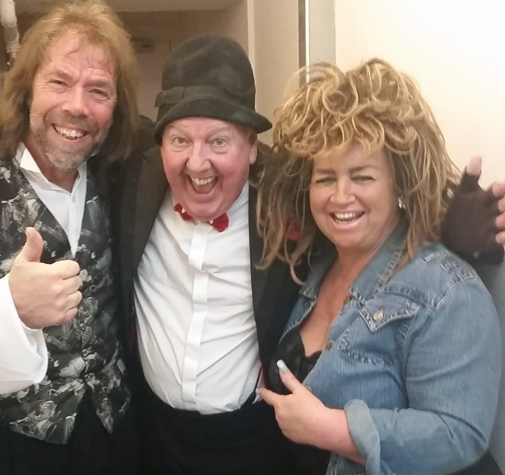 Jimmy Cricket and fellow performers at the Oldham Coliseum