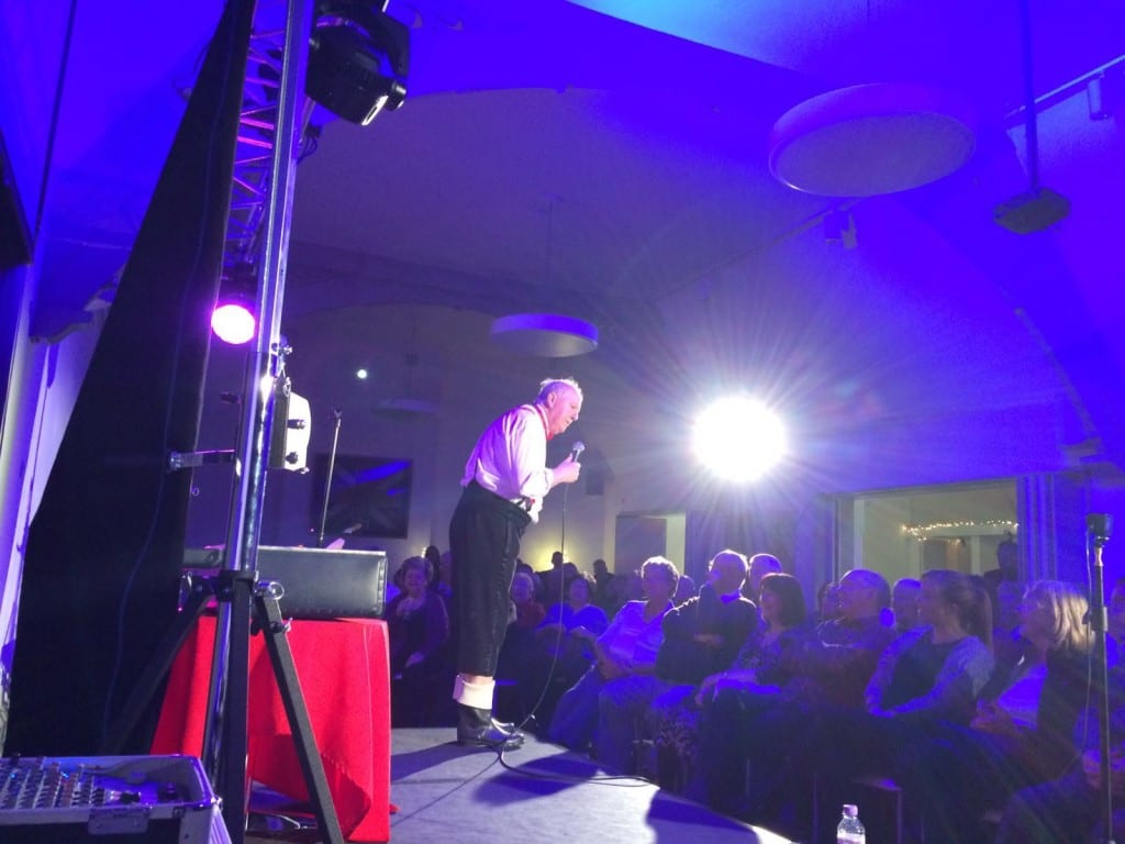 Jimmy Cricket performs at the Lourdes fundraiser at the Fusilier's Museum in Bury