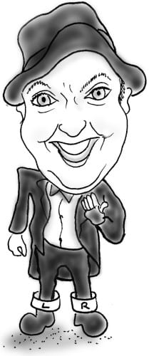 Caricature of Jimmy Cricket
