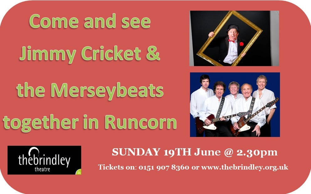 Jimmy Cricket and the Merseybeats are appearing at the Brindley Theatre in Runcorn on Father's Day