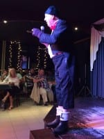 Jimmy Cricket performing on stage
