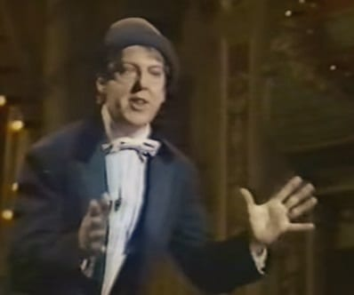 Jimmy Cricket performed in the Good Old Days at the City Varieties Music Hall in Leeds