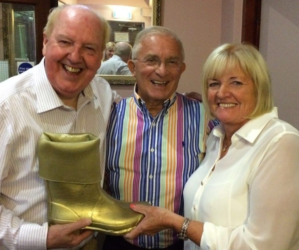 Jimmy Cricket with Barry and Carole Young