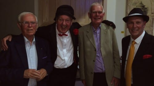 Jimmy Cricket with friends at the Rotary Club of Barnoldswick & Earby fundraiser