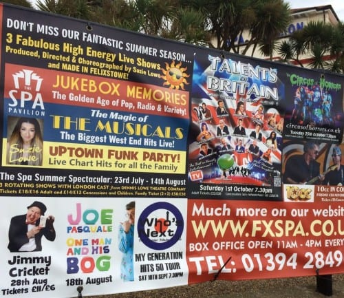 Poster showing Jimmy Cricket at The Spa Pavilion in Felixstowe