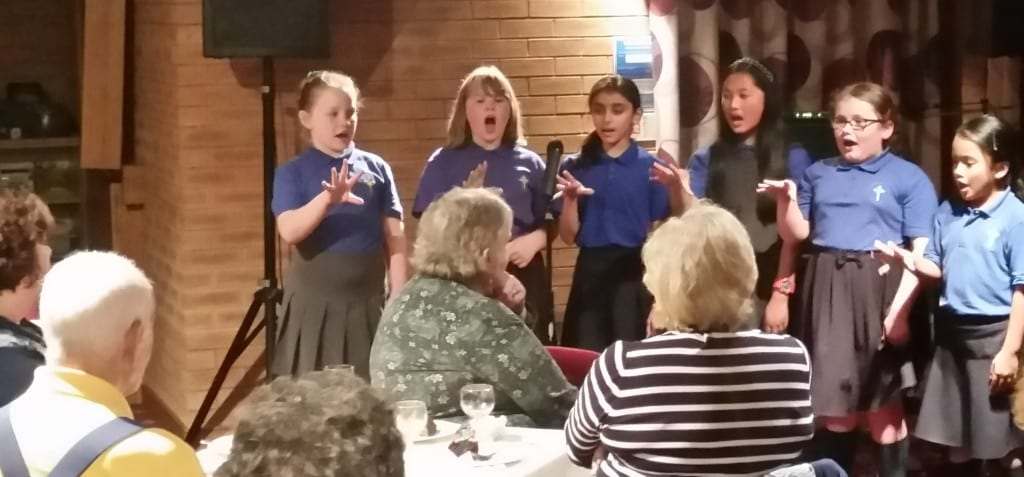 Children from St Patrick's RC Primary School in Rochdale sang at the concert