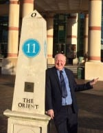 Jimmy Cricket outside the Intu Trafford Centre near Manchester
