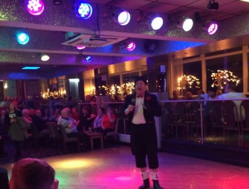 Jimmy Cricket performing at the Lyndene Hotel