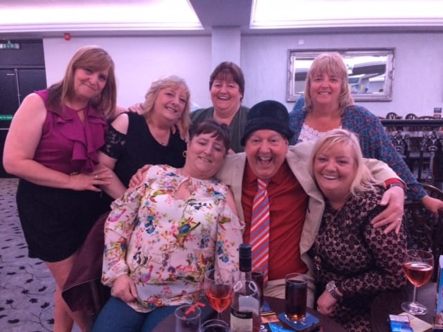 Jimmy Cricket with the Crummie sisters