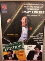 "The event on Saturday night (27 May) was billed as ""a night of comedy, fun, music and dance with the legendary Jimmy Cricket"""