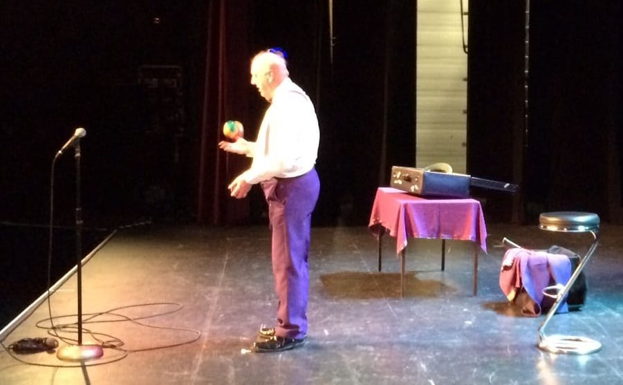 Jimmy Cricket performing at the An Grianan Theatre in the Donegal town of Letterkenny