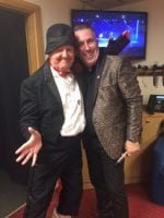 Jimmy Cricket with compere Simon Phillips