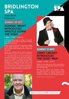 Jimmy Cricket will be appearing in a film festival at Bridlington Spa