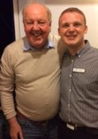 Jimmy Cricket with Daryl, the entertainment manager at Beverley Holidays park in Devon