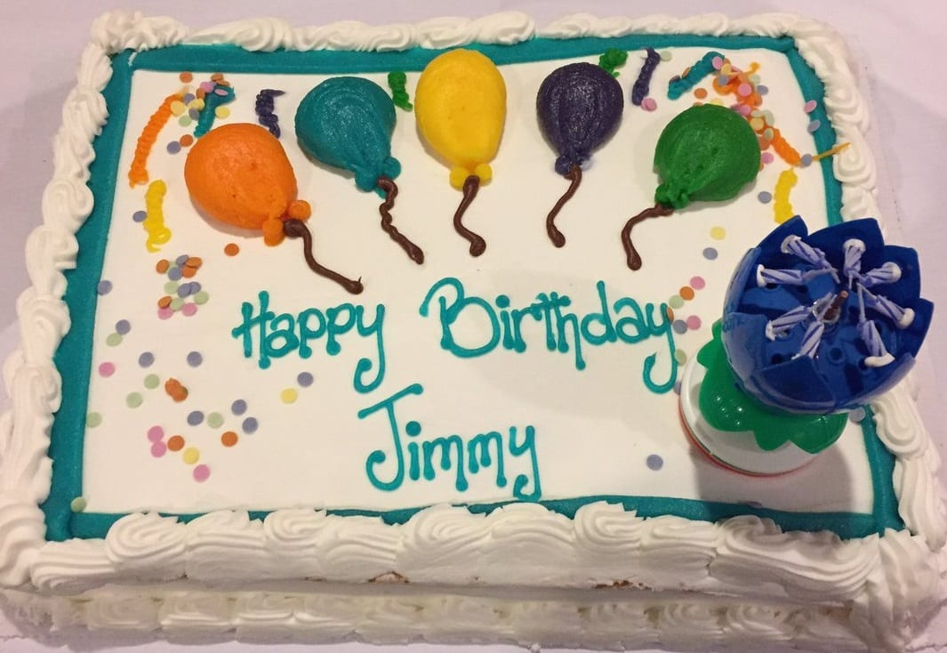 Jimmy Cricket's birthday cake
