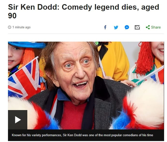 The BBC called Sir Ken Dodd a comedy legend