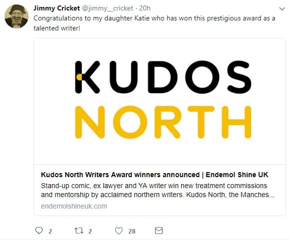 Katie Mulgrew was one of three winners of the Kudos North award