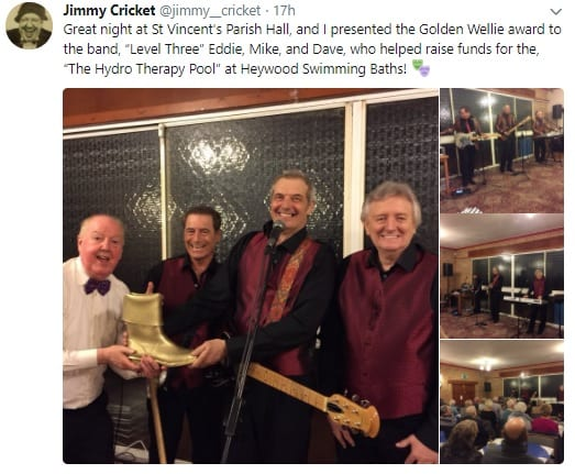Highlights from Jimmy Cricket's latest jam night in Norden, Rochdale