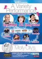 "Jimmy Cricket will appear in a variety show in aid of ""Molly Olly's Wishes"""